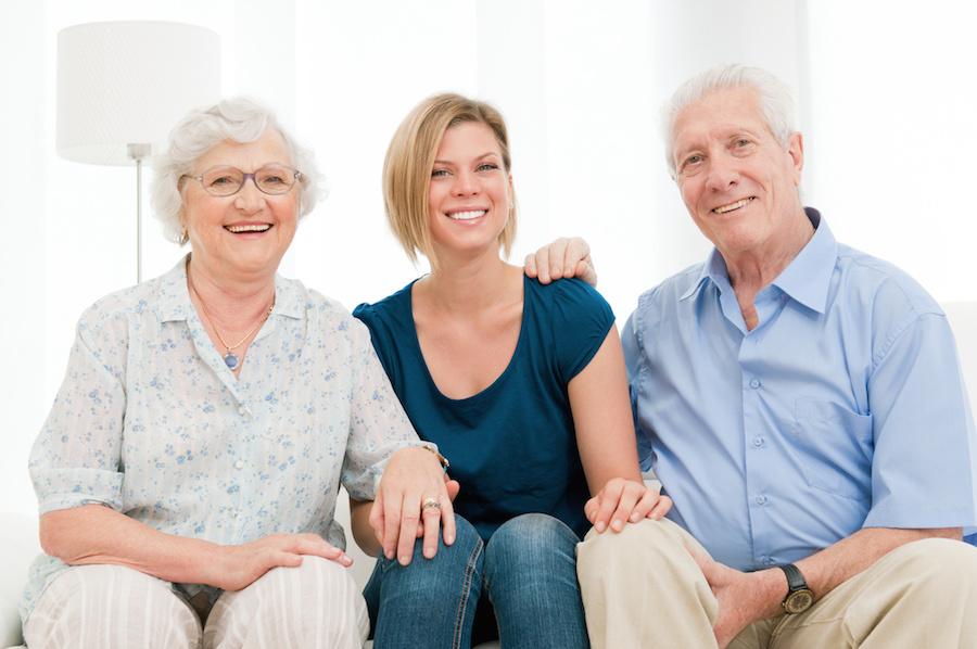 Joyful happy family
